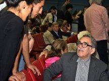 Gabriel García Márquez con sus seguidores en Cuba, 2004.