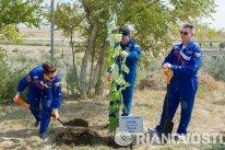 En Baikonur, los tres cosmonautas no solo se entrenaron de cara a la misión, sino también disfrutaron de ratos de ocio.