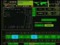 Soyuz TMA-14M parámetros del vuelo en la pantalla del panel de control (NEPTUNE). Foto: NASA TV