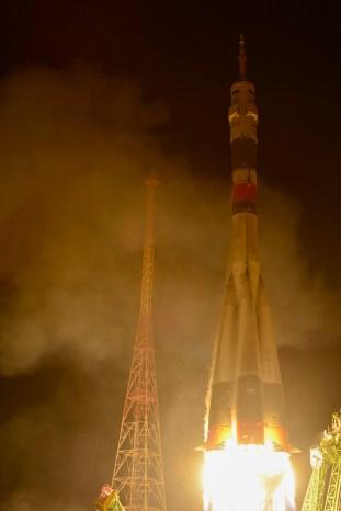 La nave espacial Soyuz TMA-15M es lanzado desde el cosmódromo de Baikonur en Kazajstán el 23 de noviembre 2014, con la tripulación de la Expedición 42/43, donde van a vivir y trabajar durante cinco meses. Crédito: ESA-S. Corvaja, 2014.