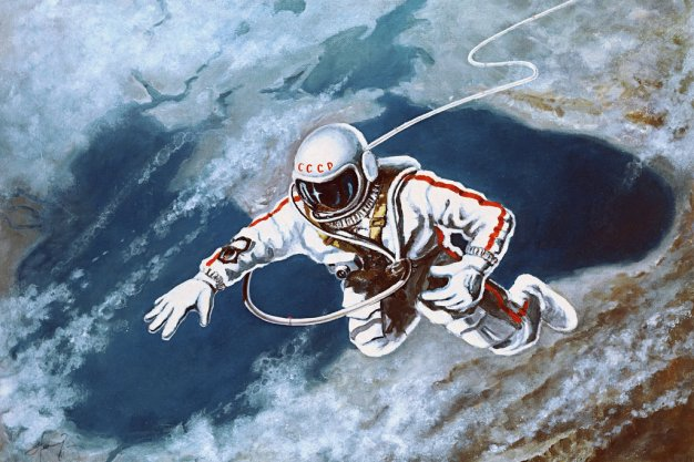 Pintura de Alexéi Leónov titulada 'Sobre el Mar Negro'. Reproducción: RIA Novosti.