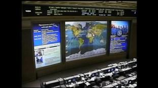 Centro de Control de Misión en Moscú. Imagen: NASA TV.