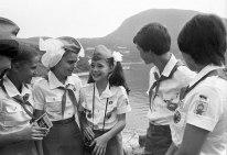 La activista de la paz Samantha Smith durante su estancia en el Campo Internacional de Niños Artek, Yalta, Crimea, Unión Soviética. Foto: Valery Zufarov / ITAR-TASS.