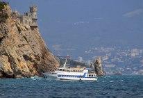 """Barco recreativo """"Samantha Smith"""" en la bahía de Yalta el verano de 2014. Foto: Archivo de Inga Sobolevskaya."""