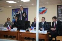 """1 de septiembre de 2015: La tripulación de la nave espacial """"Soyuz TMA-18M"""", es aprobada por la comisión estatal federal. Foto: S.P. Korolev/RSC Energia."""