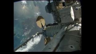 La Soyuz MS-03, acoplada al módulo Rassvet MRM-1. Foto: NASA TV.
