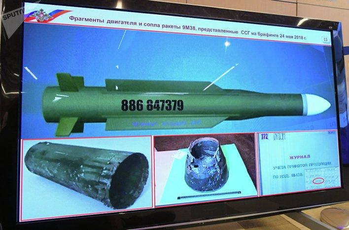 Τμήματα ενός πυραύλου Buk