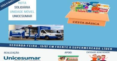 Ação da Universidade Unicesumar promove solidariedade e cultura ao trocar livros por alimentos para as famílias em João Pinheiro