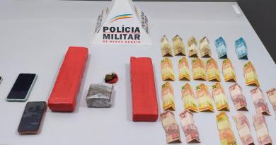 Brasilândia de Minas – Polícia Militar prende grupo por associação ao tráfico com quase três quilos de maconha