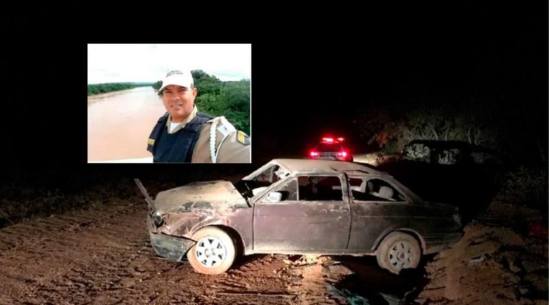 Sargento aposentado da PM morre após carro capotar em Unaí