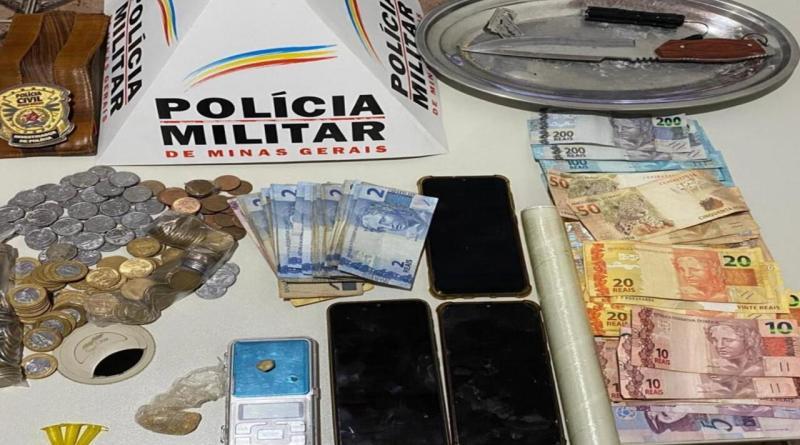 Ação conjunta entre PM e PC prende quatro pessoas por tráfico de drogas em Guarda-Mor