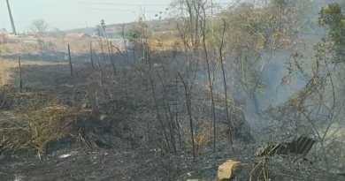 Moradora denuncia incêndio criminoso no bairro Santa Cruz em João Pinheiro