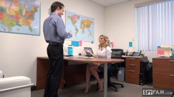 Cory Chase in Step-Son Sexually Harassed By Step-Mom At Work 6