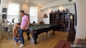 Laura Bentley in Stepmom Plays With Stepson's Cue Stick 9