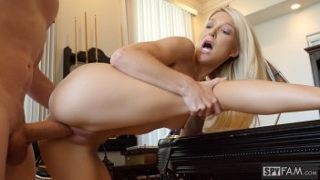 Laura Bentley in Stepmom Plays With Stepson's Cue Stick 25