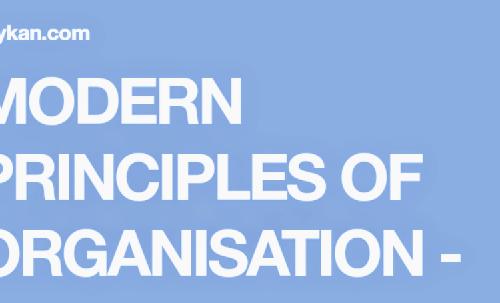 MODERN PRINCIPLES OF ORGANISATION