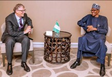 Buhari meets Bill Gates