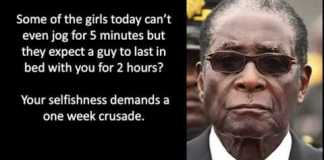 Robert mugabe funny quote