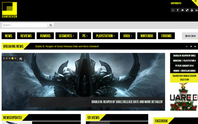 20 Well Designed Blogs And Magazines For Video Game News SpyreStudios