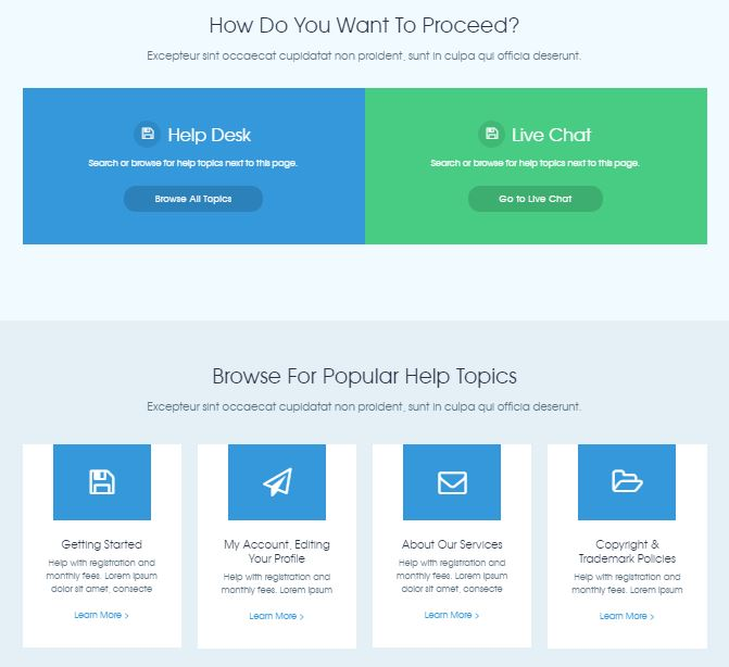 HelpDesk Support Theme