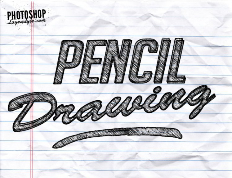 Free pencil text effect