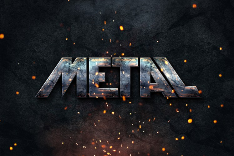 Metal Text Effect