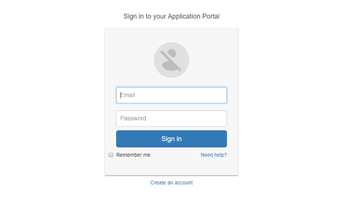 bootstrapped-powered login form