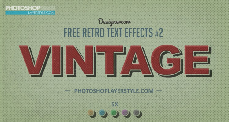 Green retro text effect