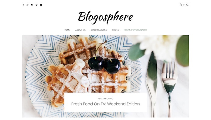 Responsive Food Blog WordPress Themes