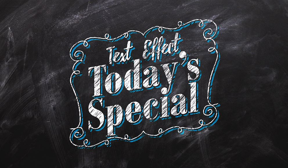 Chalkboard text effect