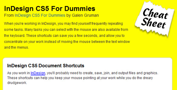 Adobe Indesign CS5 for dummies