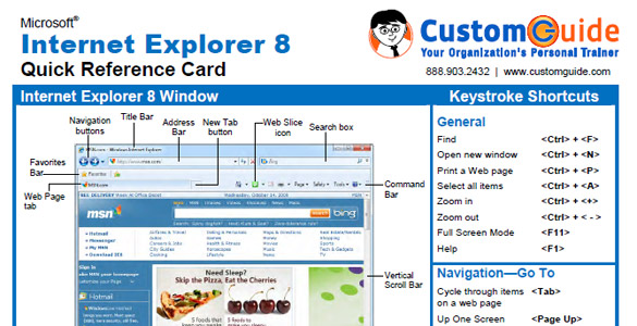 Internet Explorer 8 – quick reference card