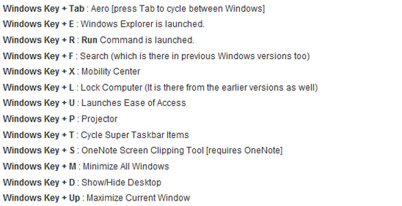 Windows 7 Cheat Sheet