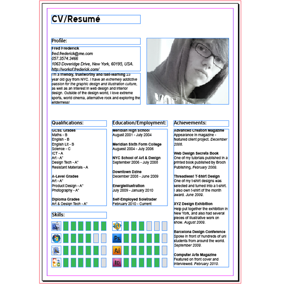how to create a modern cv resumà with indesign spyrestudios
