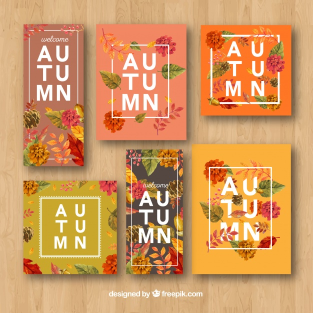 autumn card design floral