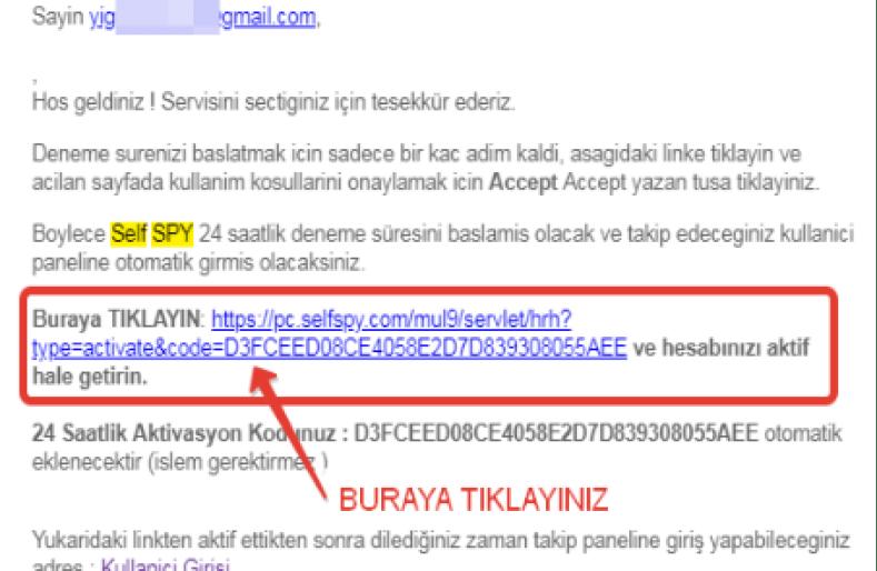 casus yazılım e mail onay