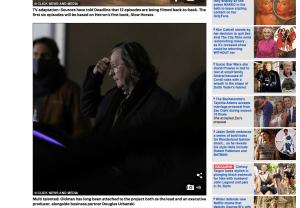 Screenshot of Daily Mail story of Oldman as Jackson Lamb