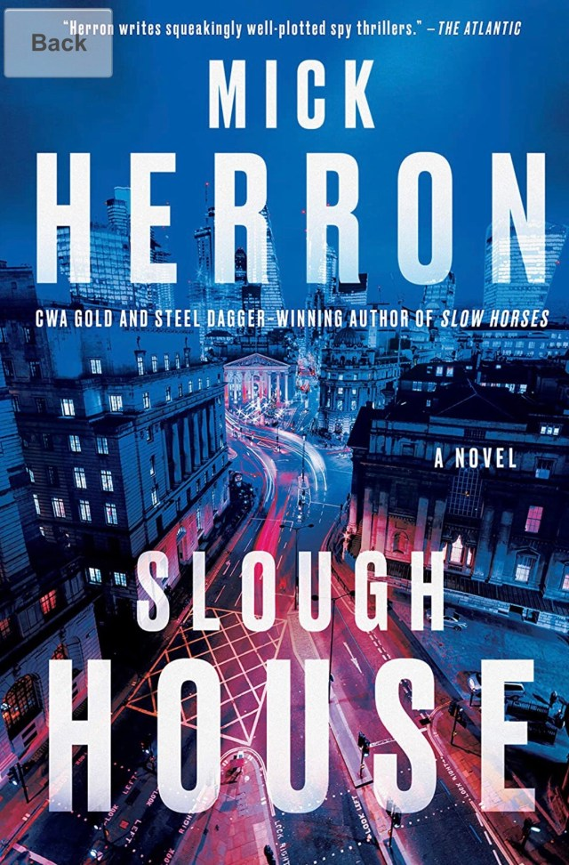 US hardcover cover for Slough House