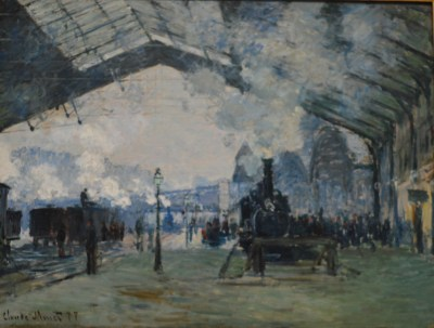 Arrival of the Normandy Train, Gare Saint-Lazare — Claude Monet
