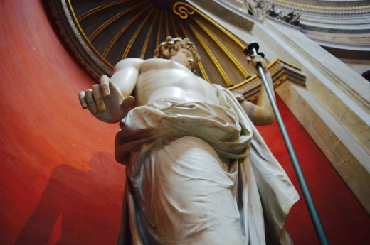 A statue inside the Vatican