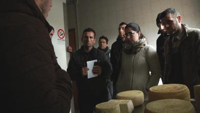 Paola Gjoni gjatë vizitës së saj në Apenine, Reggio