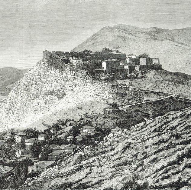 Fortezza di Scutari 1877, Biblioteca Ambrosiana, Firenze.