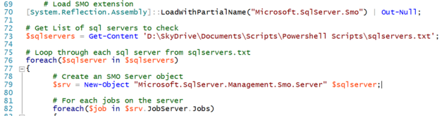 but which ever way you do it you need to be able to iterate through the array and then the jobs collection in the jobserver namespace as follows - Collection Agent Jobs