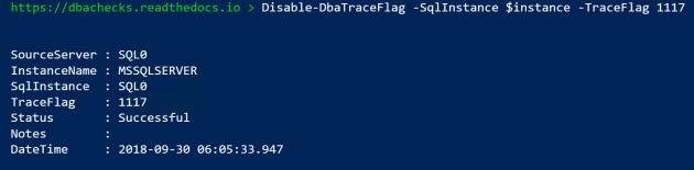 disable trace flag