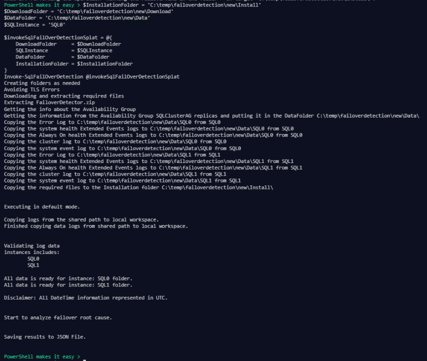 Gathering all the Logs and Running the Availability Group Failover