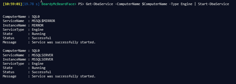 Getting SQL Services, Starting, Stopping and Restarting them