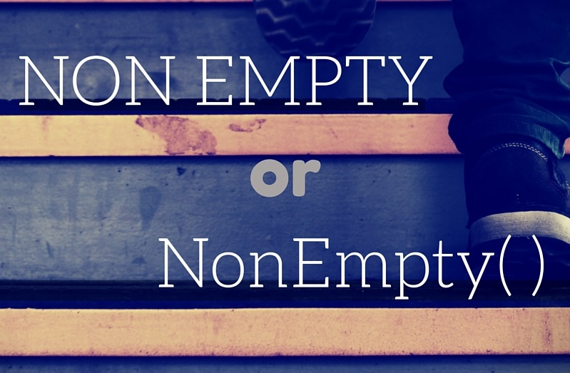 MDX Non Empty and NonEmpty function