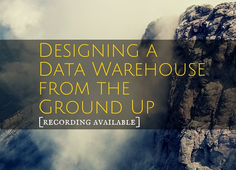 How to design a data warehouse