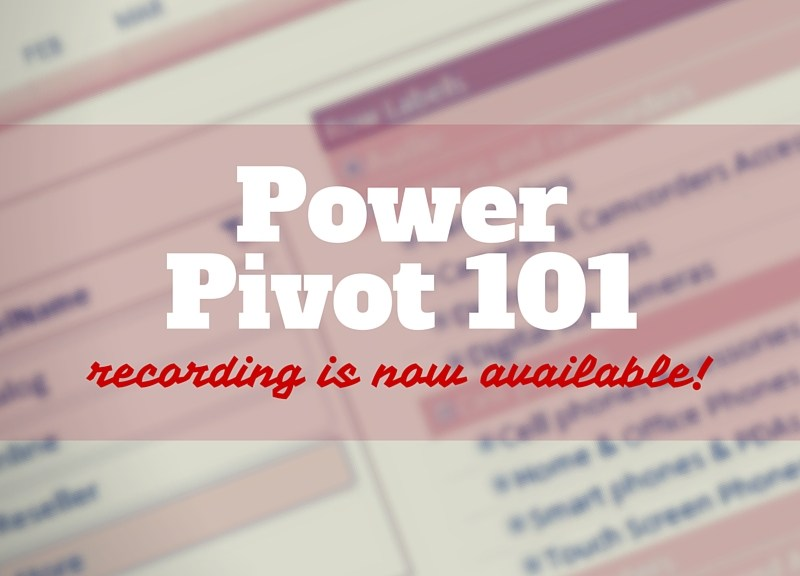 power pivot | Data and Analytics with Dustin Ryan
