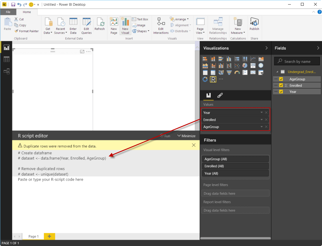 Getting Started with R Visuals in Power BI | Data and